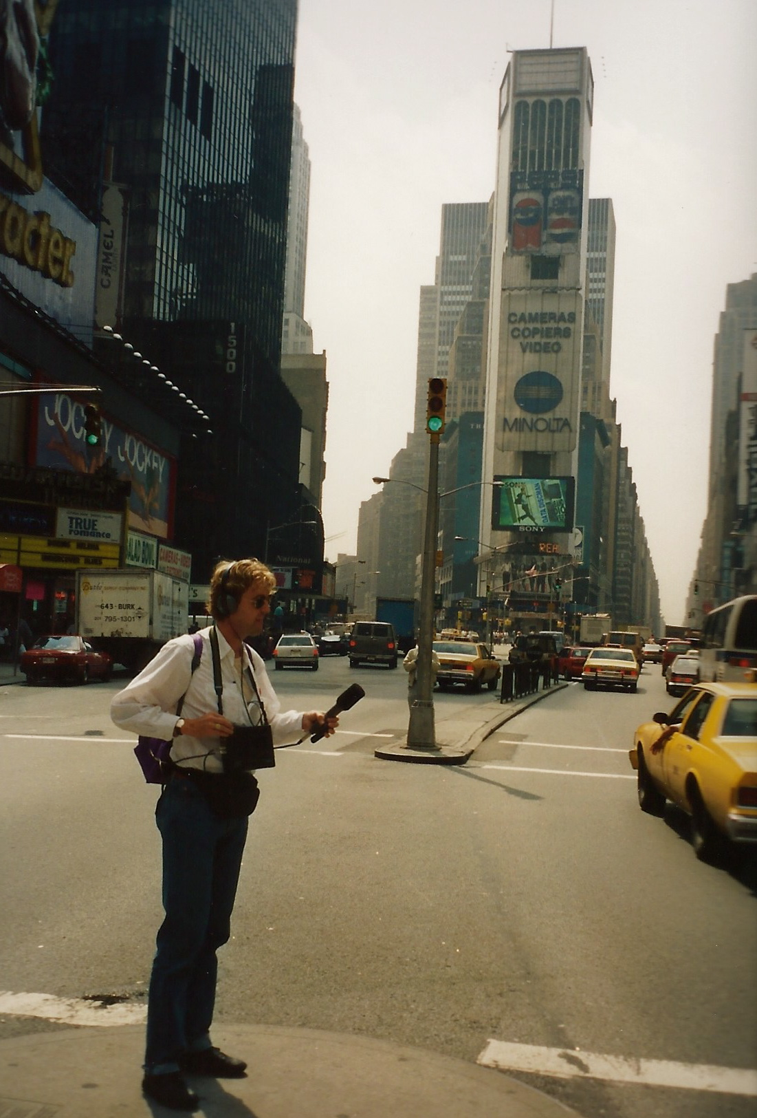 Right on Times Square, the Heart of The Big Apple, to record the city sounds for 'Time square Cadenza'. And now, almost 20 years later, I live a couple blocks south on 7th Avenue!,