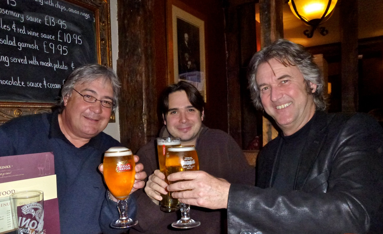 With Bob and Dave Childs: a toast to the brass band premiere - Wales 2012