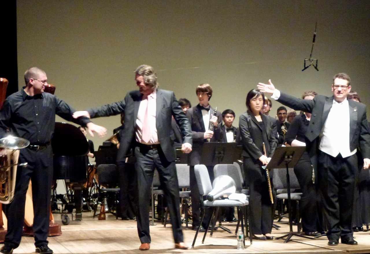 Euphonium virtuoso Jason Ham gave a splendid World Premiere performance with The Peabody Wind Ensemble & conductor Harlan Parker  at the Peabody Conservatory in Baltimore, February 15th, 2012