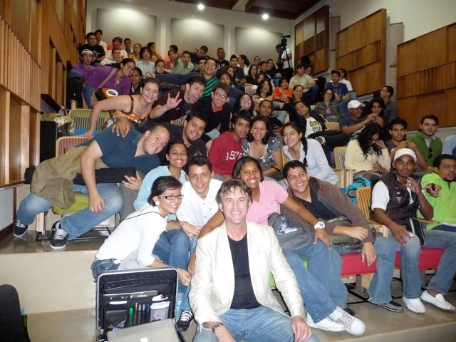 Master class with the Simon Bolivar Youth Wind Orchestra, Venezuela - October 2010