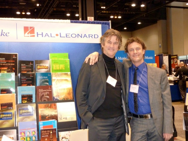 With my good friend Ruud Pletting at the Amstel Music Booth at the Midwest Clinic in Chicago, December 2010