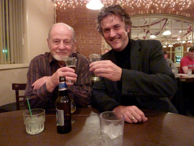 Meeting with fellow composer Michael Colgrass at Tufano's, a great family style Italian restaurant during the annual Hal Leonard dinner - Chicago, December 2010
